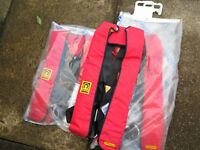 "Crewsaver Life Jackets Adult size (34"" - 50"" chest) bagged & unused £20 each or £55 set 3"