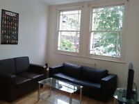 Nice Black Double Leather Sofa near Euston London - Quick Sale - First one will buy