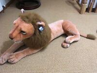 Large cuddly stuffed toy Lion
