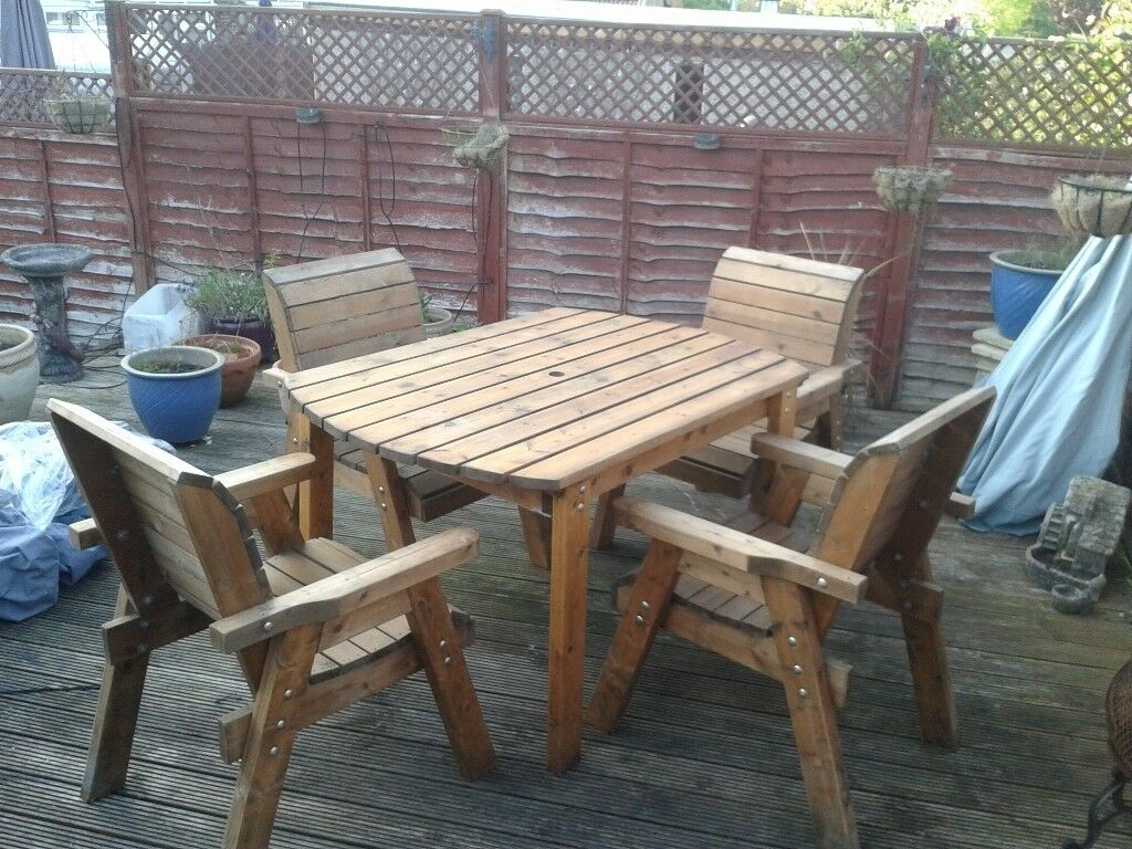 Nice Chunky Garden Table And Chairs Woodenkept In Shed This Winter In Burgess Hill West Sussex Gumtree
