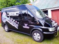 02 ford transit mwb, 135bhp great driving van