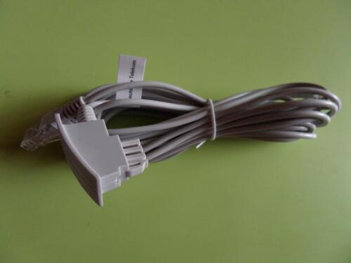 3x Telefonkabel Stecker Adapter für Dose Telefon Kabel Stromkabel in ...