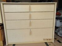 Chest of drawers, maple effect