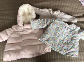 0-3 month girls coats