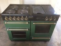 Rangemaster 110 Electric cooker with hot plate and griddle.