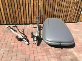 Thule Roof Bars, Thule 591 Cycle Carriers and Roof Box
