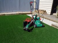 Qualcast lawn mower and strimmer