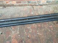 Free scrap metal: Three Black Poles of varying sizes (believed to be iron) for collection only