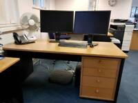 4 x desks and 4 x draws FREE