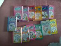 Set of 13 dork diary books
