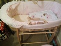 moses basket - collection only