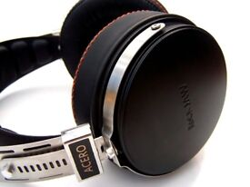 Rock Jaw Acero Stainless Steel and Ebony Headphones - BRAND NEW BOXED