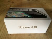 Apple iphone 4S - 32GB - Black (Vodafone) Smartphone - Boxed incl charger & Gorilla Glass metal case