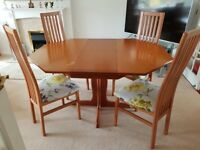 G-Plan Octagonal Extending Dining Table, 4 Chairs and Dresser