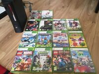 Xbox 360 320GB hdd + 14 games and 2 controllers