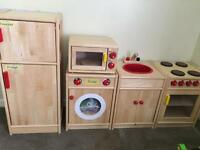 Children's wooden kitchen set range