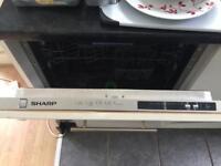 Sharp integrated dish washer
