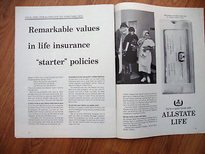 1964 Allstate Life Insurance Ad  Starter Policies