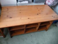 solid wood TV unit, lovely piece of furniture ideal for living dining room, £20