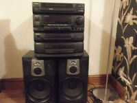 stereo/karaoke 5 disc changer with speakers