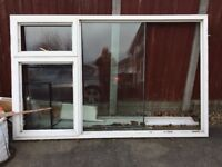 "uPVC double glazed window 94"" x 58 3/4"""
