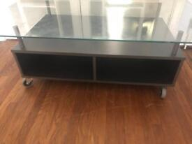 Coffee table - large glass top