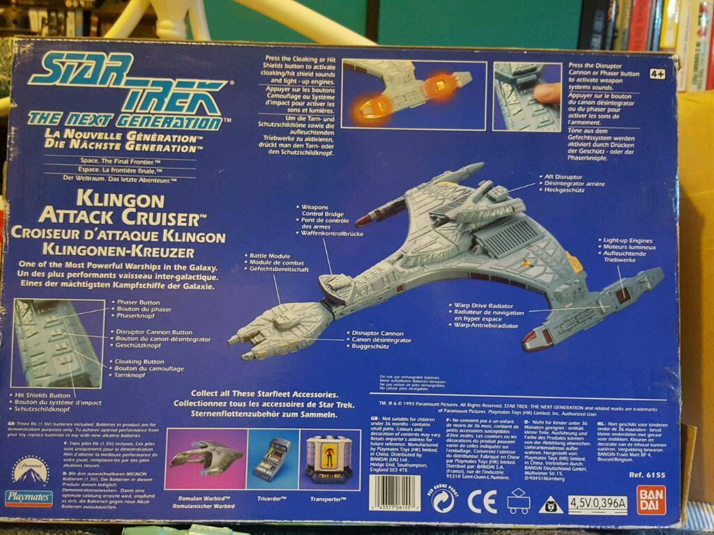 Star Trek Playmates Klingon Bird of prey