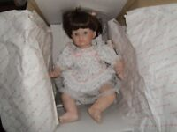 "Danbury Mint collection ""Jessica"" porcelain doll by Susan Walkeen"