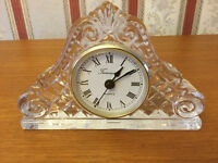 Beautiful Glass Quartz Clock with Battery - in Excellent Condition
