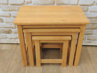 Nest of Oak Tables Heavy duty (Delivery)