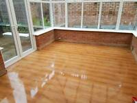 Oak laminate flooring (used)