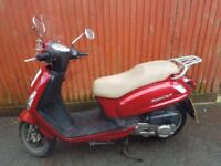 Sym Fiddle 2 125cc Red Scooter