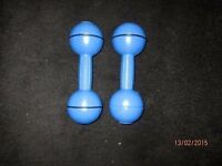 DAVINA MC CALL WEIGHTS/ DUMBBELLS X 2 GREAT FOR EXERCISE WORKOUT