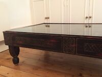 Gorgeous Much Loved Rajasthani Shutter /Coffee Table. Owner Moving Abroad