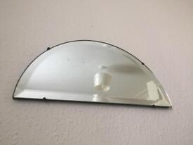 Vintage mirror half circle
