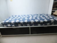 Ikea Single Bed with Drawers/Mattress
