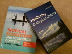 Two ecology/conservation/geography study books