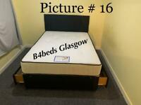 Brand new divan bed with 2 drawers and mattress headboard
