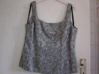 "Vintage Littlewoods Eveningwear Tailored Vest Top, Chest approx. 38"""