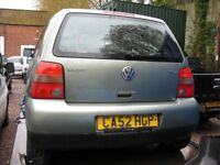 VW Lupo 1.7 SE Sdi CAMBRIDGE special edition for spares or repair, alloy wheels, tinted rear lights