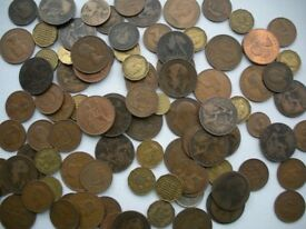 215 pre-decimalisation coins (Collect only - Aberdeen)