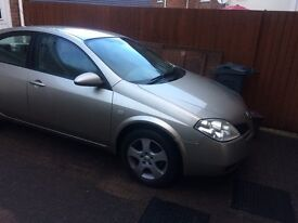 Nissan primera saloon car . 2nd owner. Good condition