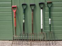 A VARIETY OF GARDEN HAND FORKS FROM £4 EACH .