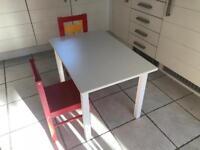 Ikea kid's table & 2chairs