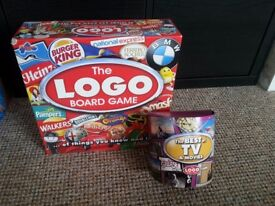 Logo Board Game (including the best of TV and Movies) + Bingo + 4 in a Row Games