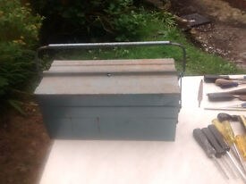 Metal Toolbox containing large quantity of hand tools REDUCED