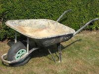 Sturdy builder's wheelbarrow