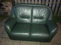 EXCELLENT CONDITION 2 SEATER LEATHER SOFA