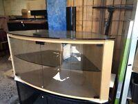 Techlink Bench Corner + B6LO Light Oak Cabniet TV Stand