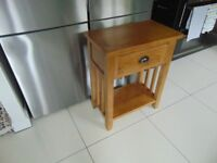 SOLID OAK CONSOLE/HALL/SIDE TABLE/TELEPHONE TABLE - FROM HOUSING UNITS OF HOLLINWOOD